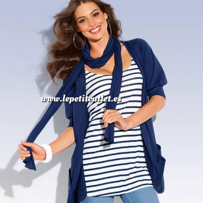 Imagen Talla 46-48 (L) Chaqueta camiseta mujer Manga corta Talla 46-48 (Ref.004323) (Últimas Unidades)