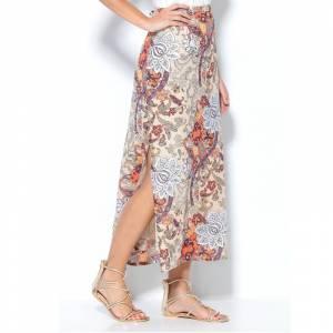 Talla 43-46 (XL) - Falda larga estampada flores Talla 44 (Ref.008707) (Últimas Unidades)