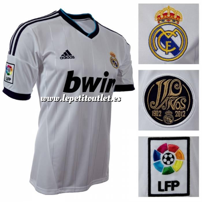 Imagen Camiseta Real Madrid Camiseta Oficial Adidas del 110 aniversario del Real  Madrid - Talla XL ... e2fad6a739f13