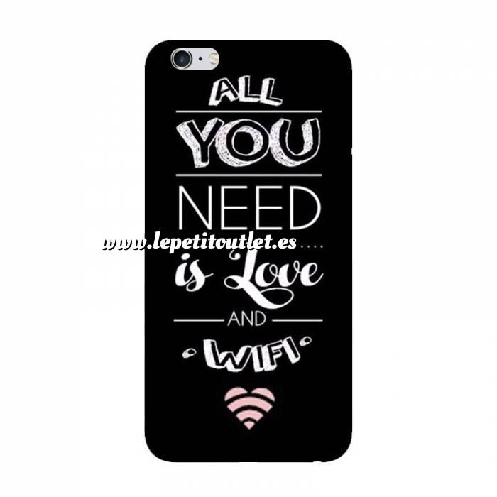 Imagen Fundas para móvil Funda de móvil: All you need is love and wifi.