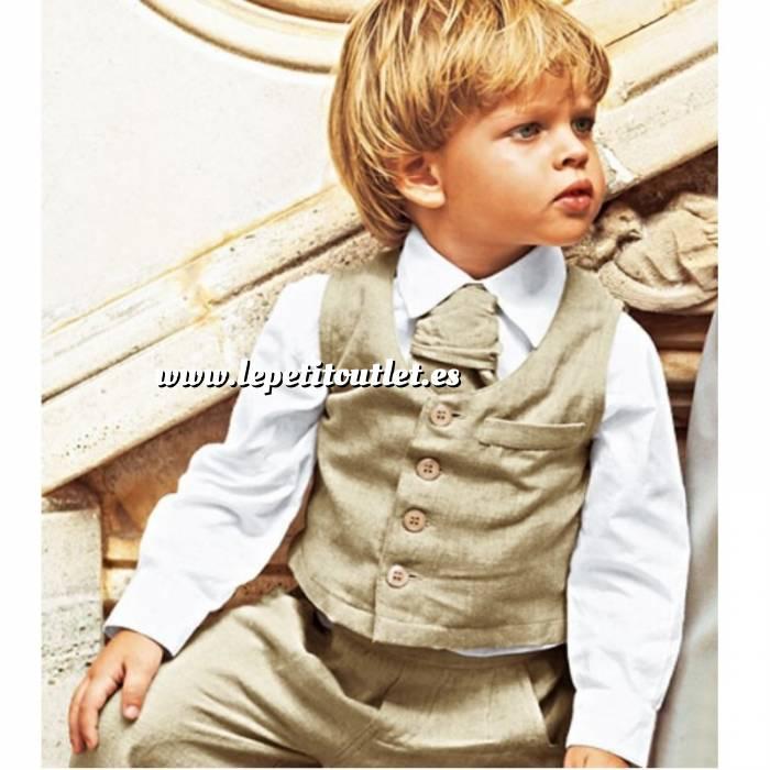 Imagen NIÑOS Camisa niño Manga larga Blanca Talla 120 (Ref.036253) (Últimas Unidades)