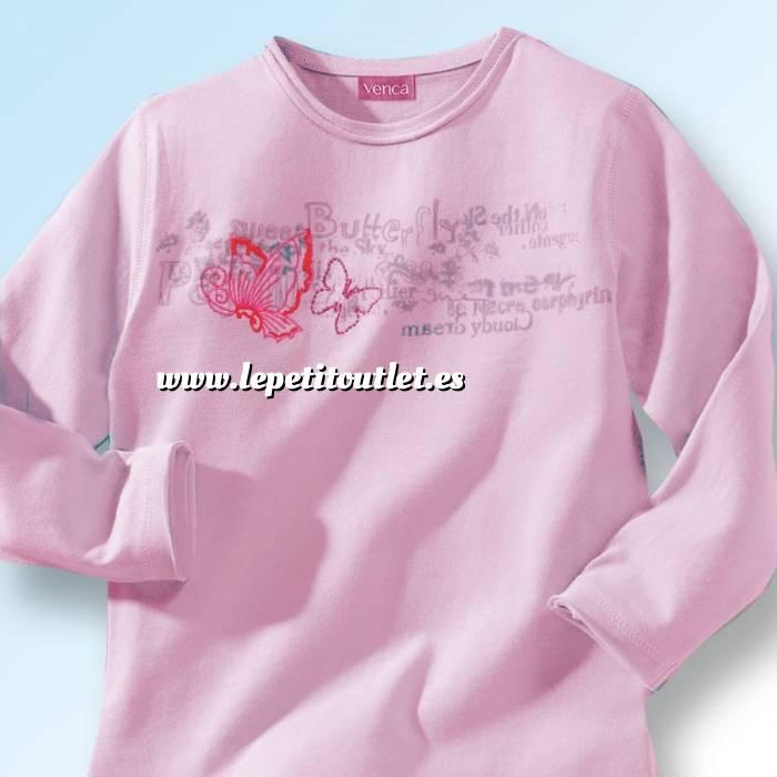 Imagen NIÑOS Camiseta niña manga larga Rosa Talla 94 (Ref.015800) (Últimas Unidades)