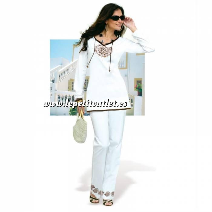 Imagen Talla 36-39 (M) Conjunto de túnica y pantalón Color blanco Talla 38-40 (Ref.071132) (Últimas Unidades)