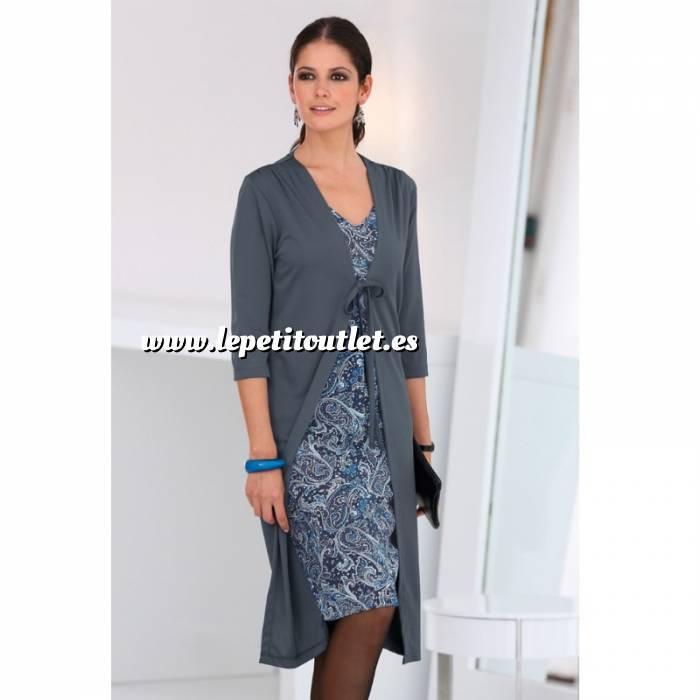 Imagen Talla 36-39 (M) Vestido Efecto doble con chaqueta Color azulado Talla M (Ref.098952) (Últimas Unidades)