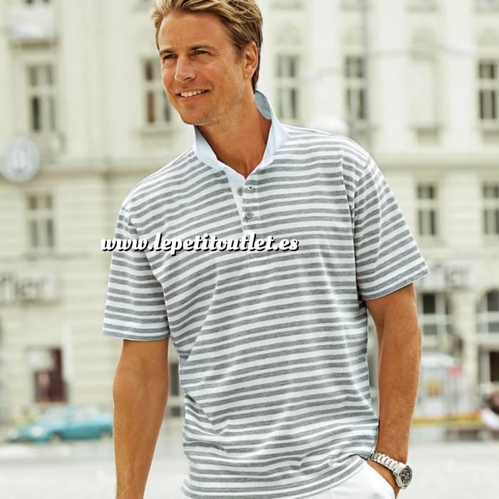 Imagen Talla 42-44 (M) Camiseta Polo Manga corta Gris Talla 44-46 (Ref.042954) (Últimas Unidades)