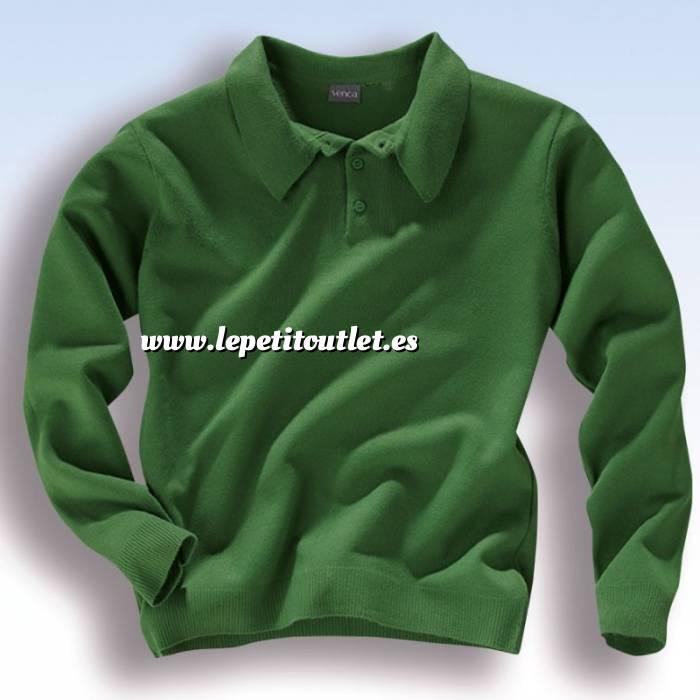 Imagen Talla 42-44 (M) Jersey Polo de hombre verde Talla 44-46 (Ref.027957) (Últimas Unidades)