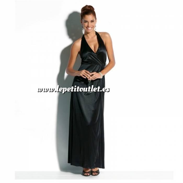 Imagen Talla 46+ (XXL) Vestido largo de fiesta Color negro Talla 46-48 (Ref.041691) (Últimas Unidades)