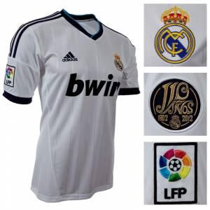 Camiseta Real Madrid - Camiseta Oficial Adidas del 110 aniversario del Real Madrid - Talla M Blanca