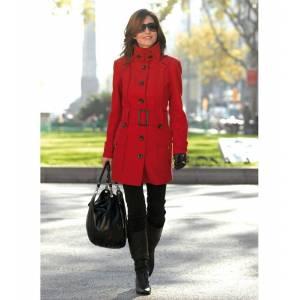 Talla 46-48 (L) - Abrigo manga larga con cinturón Color rojo Talla 46-48 (Ref.032420) (Últimas Unidades)